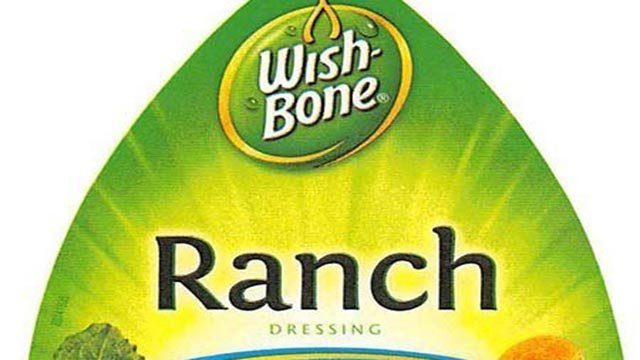 (Credit: Pinnacle Foods) Pinnacle Foods Group LLC is voluntarily recalling a limited quantity of its Wish-Bone Ranch Salad Dressing variet