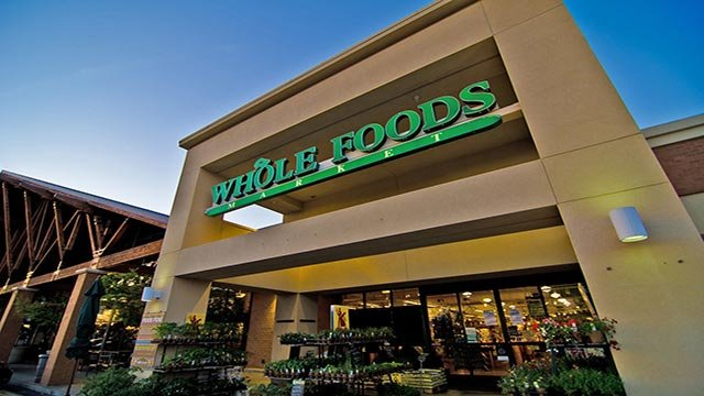 (Credit: Whole Foods Market) An exterior image of Whole Foods Market in Sacramento, California.