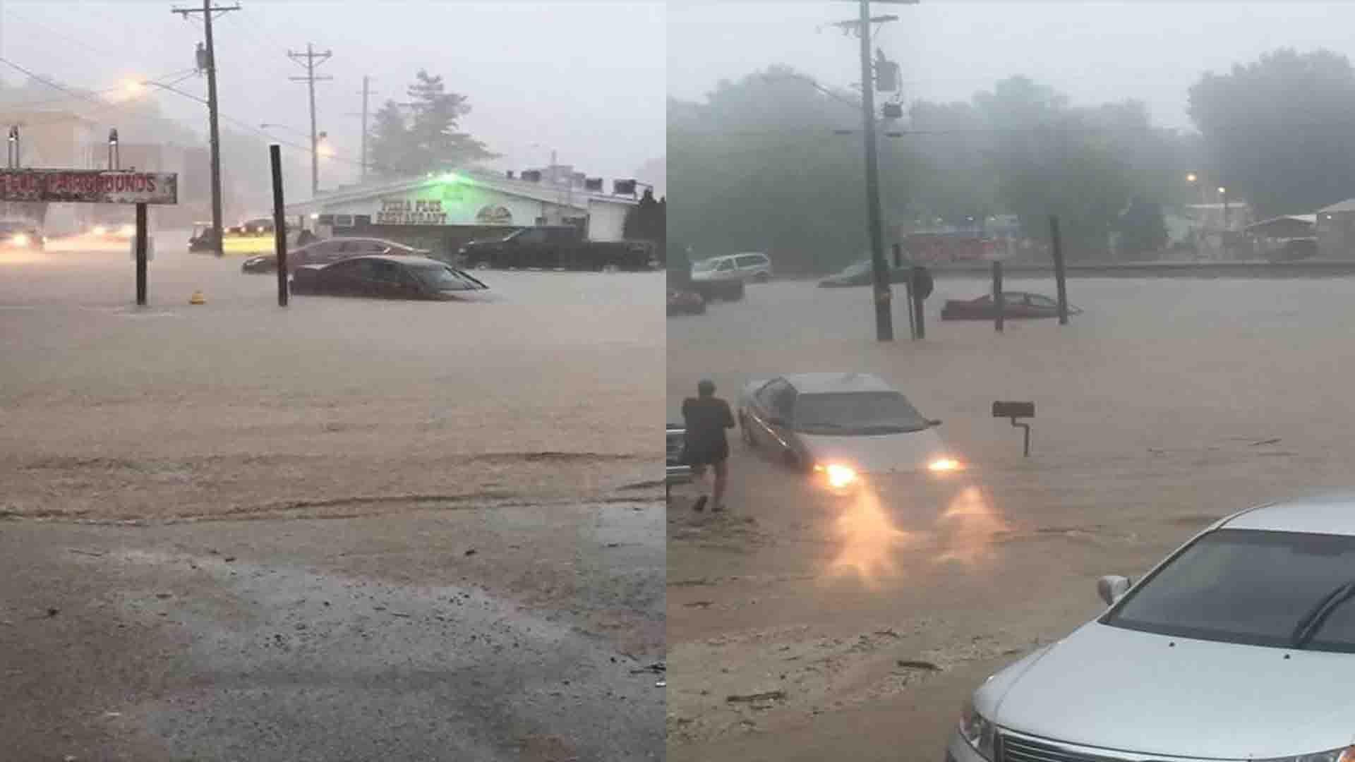Flooding in Winfield, Missouri