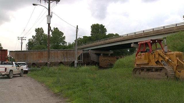 A train derailed in Alorton, Illinois Sunday afternoon.