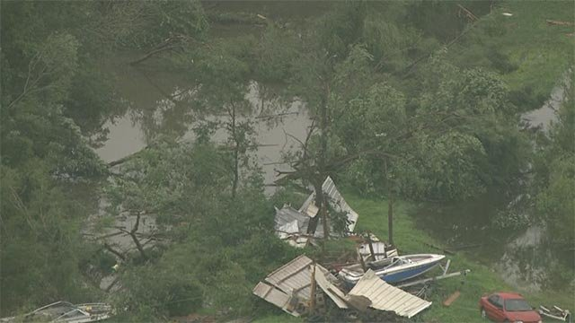 Skyzoom 4 captured this photo of storm damage in St. Peters