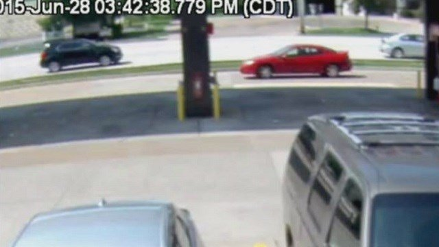 This dark-colored SUV is believed to be involved in a Sunday afternoon hit and run of a motorcycle in O'Fallon, Mo.