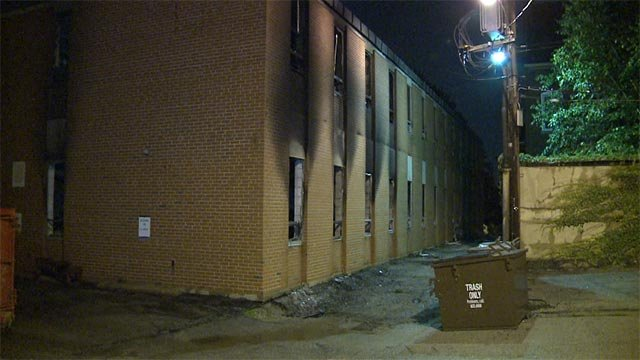 The building, located in the 1700 block of Mississippi,  caught fire around midnight