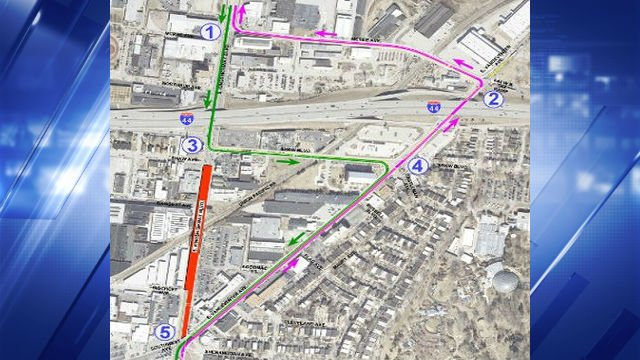 Detours from Kingshighway while the bridge is reconstructed. (Credit: City of St. Louis)