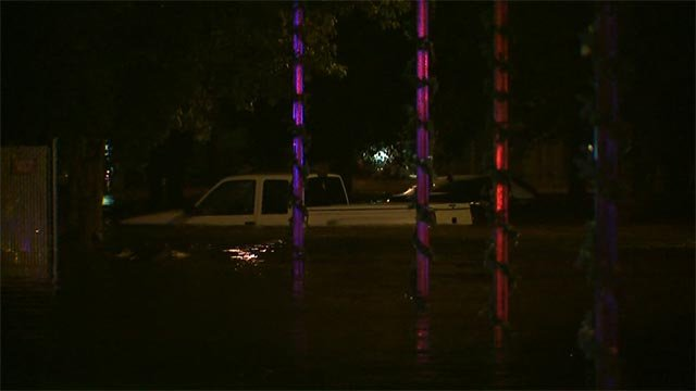A mobile home park in Jefferson County had to be evacuated due to flooding overnight