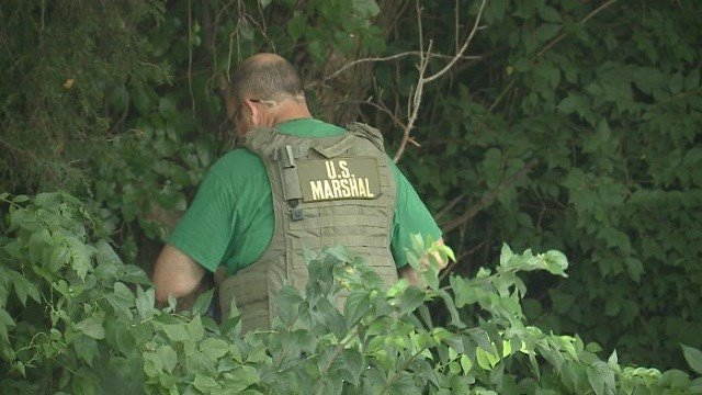U.S. Marshals assisted local officers with the chase and investigation.