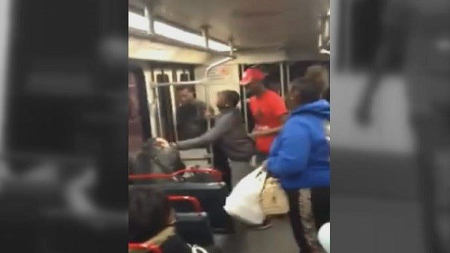 The video of a Metrolink rider being attacked was shared on Facebook.