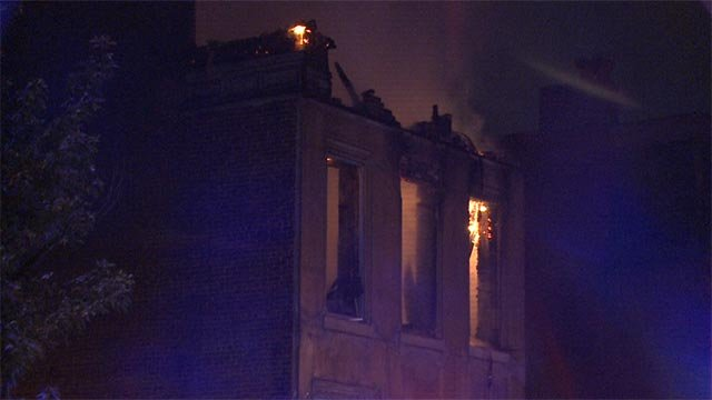 The two-story home, located in the 2200 block of Dodier, caught fire around 3:35 a.m.