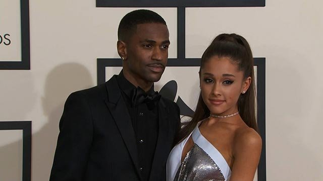 (Credit: POOL) Ariana Grande and Big Sean on the red carpet at the 57th Annual GRAMMY Awards in Los Angeles on Sunday, February 8, 2015.