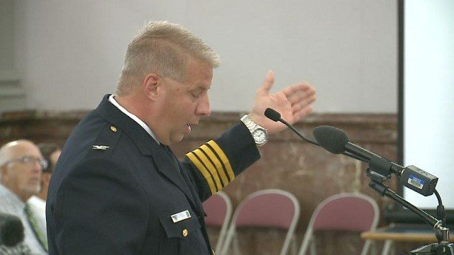 St. Louis Police Chief Sam Dotson speaks to the Public Safety Board.