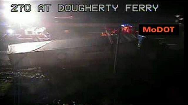 A tractor trailer accident closed a portion of Interstate 270 at Dougherty Ferry early Friday morning.
