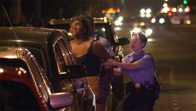 News 4 was outside the St. Louis Police Department as protesters were arrested Sunday night.