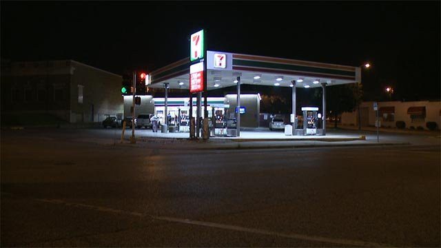 The 7-Eleven, located in the 5600 block of Gravois, was robbed at gunpoint just before 4 Monday morning