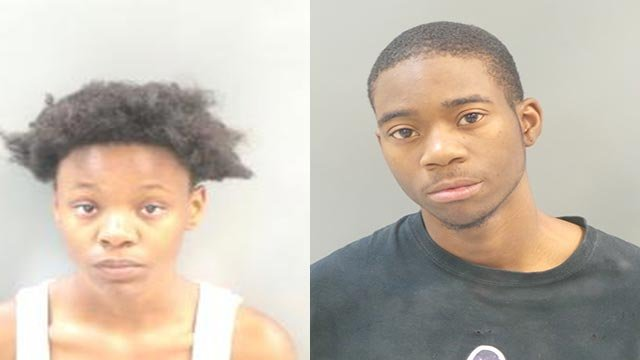Trena Williams, 17, (R) and Dontae Jackson, 18, (L) are facing charges of filing a false report in connection to a fatal hit-and-run accident outside the Broadway Oyster Bar last month.