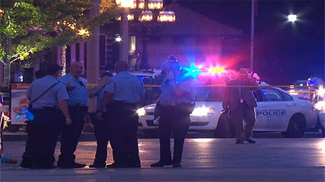 An officer was shot in the area of North Euclid and Maryland just before 5 a.m. Tuesday.