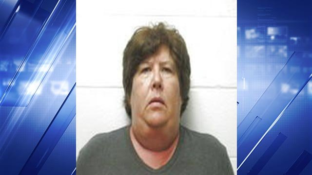 Karen Marie Brinkley, 54, is accussed of strangling her roommate in Hermann, Missouri