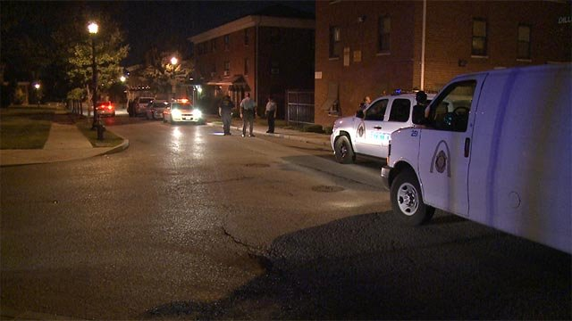 A man was shot in the 1400 block of Hickory around 2:45 Wednesday morning