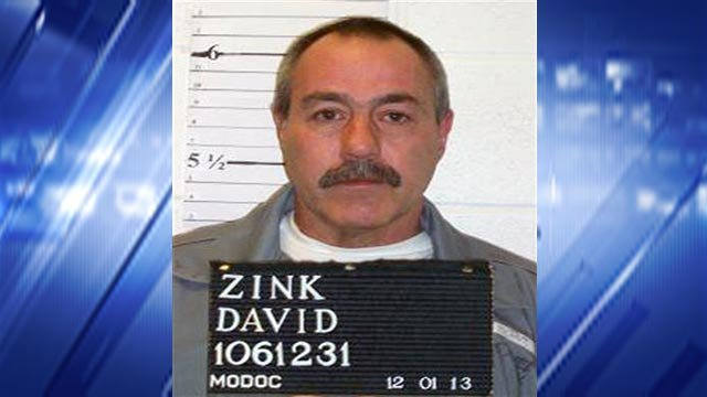 David Zink, 55, was put to death at a state prison near Bonne Terre Tuesday night. Zink was convicted of sexually attacking a 19-year-old woman before tying her to a cemetery tree and killing her in 2001.