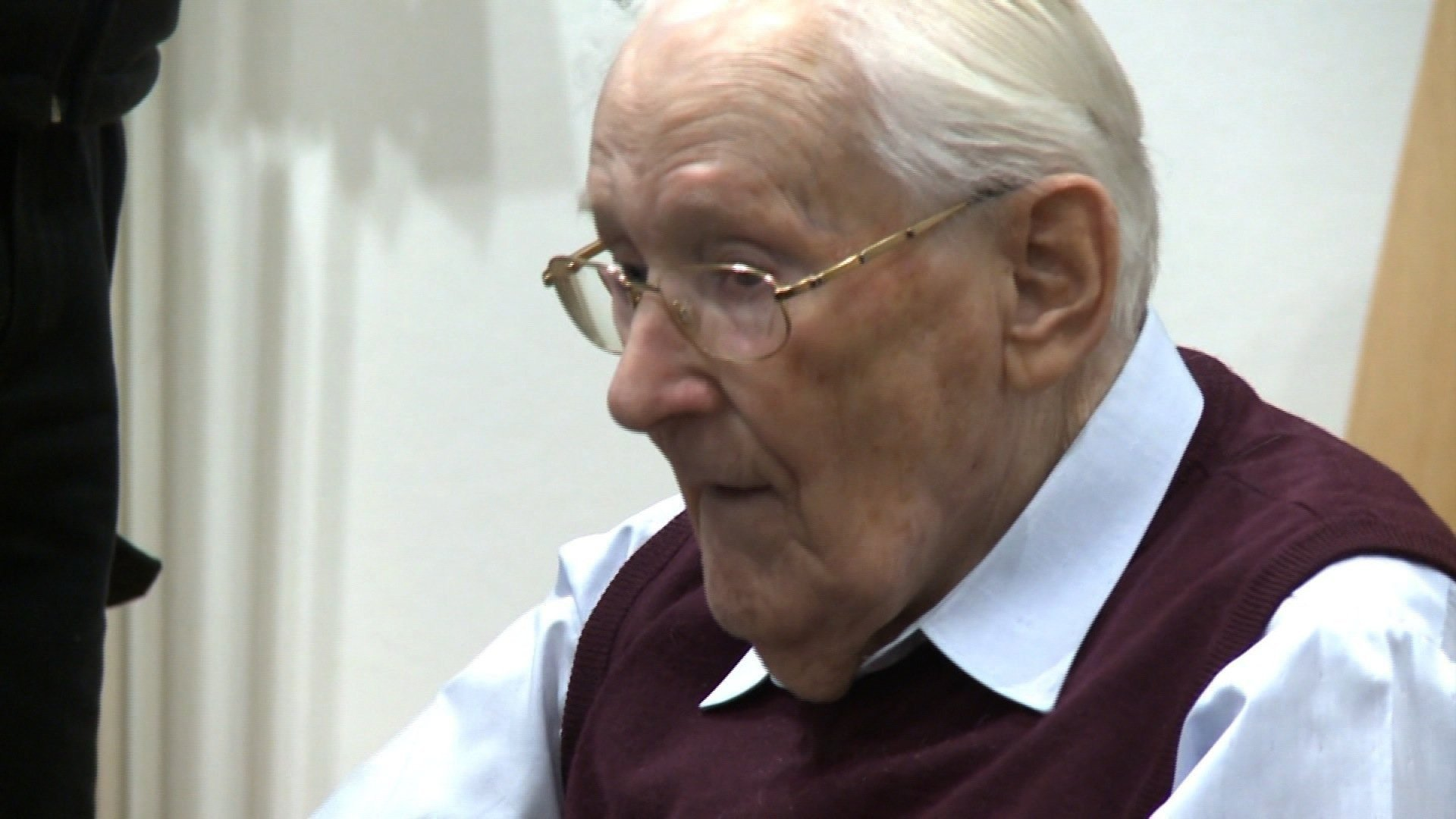 """A court in Germany sentenced former Nazi officer Oskar Groening, known as """"the bookkeeper of Auschwitz,"""" to four years in prison on Wednesday."""