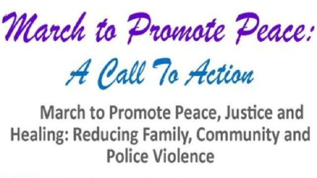 A march to promote peace and reduce violence will be held on Saturday.