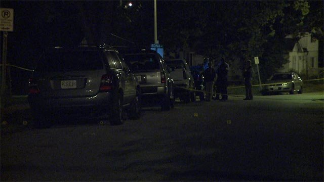 Two men, described by police as being in their 20's, were shot just before 10 p.m. in the 1100 block of Canaan.