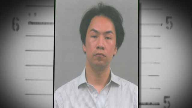 Authorities said Johnny Ton, 39, is charged with invasion of privacy and indecency after recording video of an unknowing person in a men's restroom at the Galleria on July 14