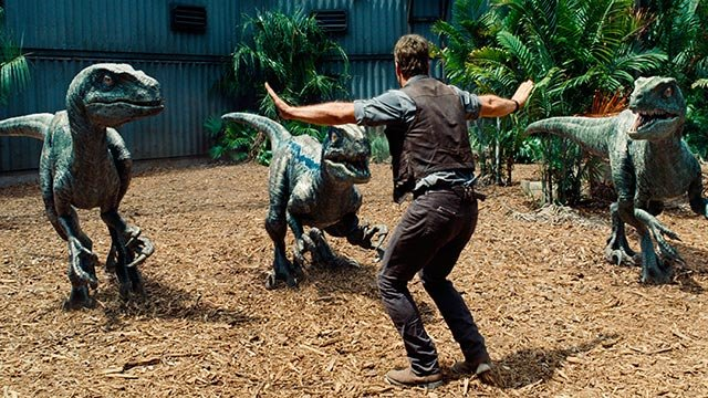 "(Credit: Universal Pictures) ""Jurassic World"" rampaged through box office records. Most notably, the Universal film brought in an estimated $511.8 million around the world, making it the highest-grossing global opening ever."
