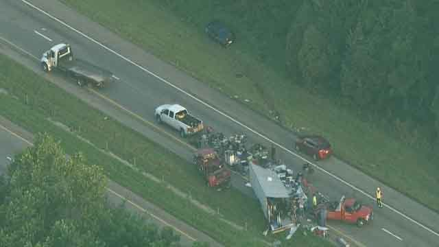 Two-vehicle accident delays traffic in Franklin County.