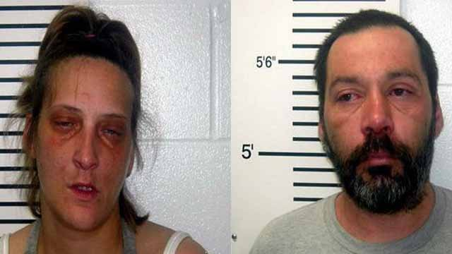 Michelle Dundee and George Bass are charged with child endangerment. The two allegedly overdosed on drugs with Bass' small children present in the same motel room