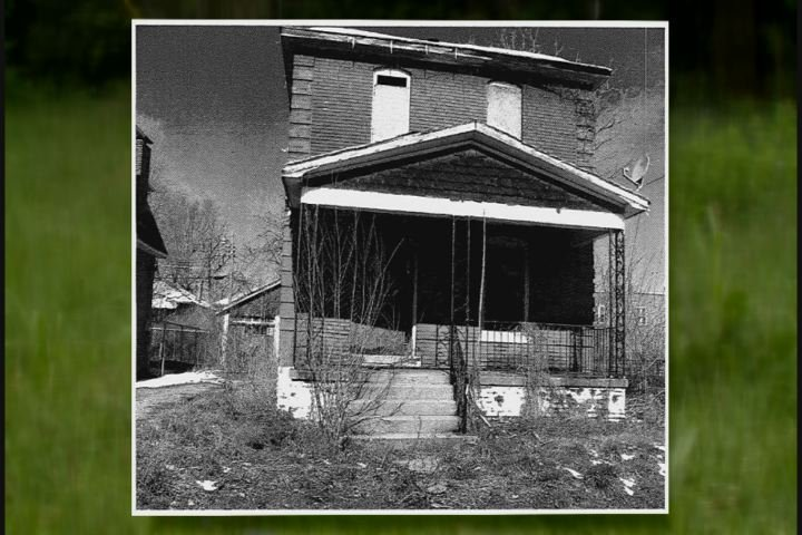 Howard's home prior to demolition.