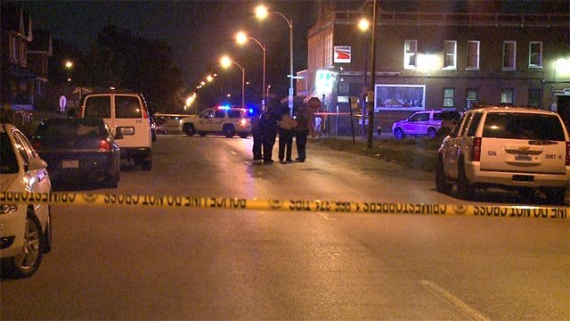 A man was shot in the stomach at the intersection of North Newstead and Labadie Wednesday night.