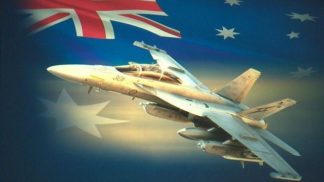 The first of 12 fighter jets Boeing will manufacture for the Australian Air Force.