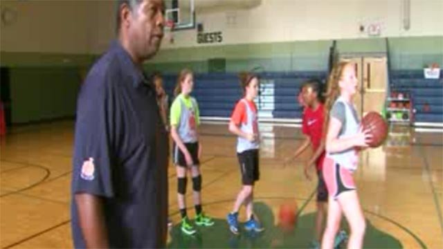 Coach Heywood Hunt's basketball program gives players the opportunity to be on a team without tryouts