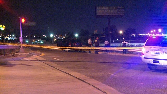 A man is in critical condition after being shot while exiting Interstate 70 early Monday morning