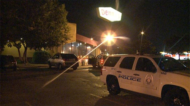 A south St. Louis Denny's was robbed at gunpoint early Monday morning