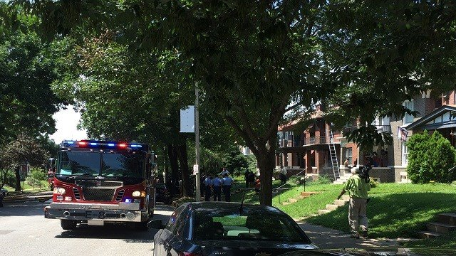 Firefighters responded to a first alarm fire in the 3800 block of Shaw, where two people were injured.