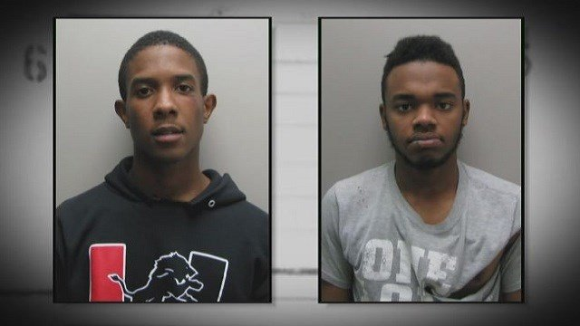 Juwan Jefferson (left) and Samuel Moore (right) are accused of stealing vehicles from car dealerships.