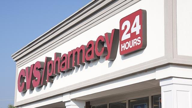 A photograph showing the exterior of a Atlanta, Georgia-area CVS store. (Credit: CNN)