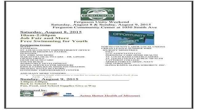 Ferguson Community Center holds job fair Aug 8. and Aug 9.