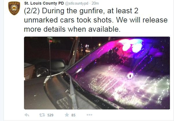 A tweet from St. Louis County Police