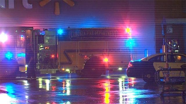 A lightning strike caused a Cahokia Walmart to lose power Sunday night