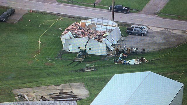 Skyzoom 4 was over Hoyleton, Illinois after storms came through the area Sunday night.