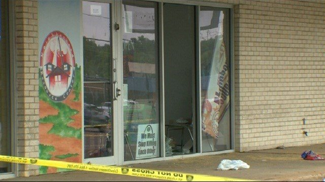 With windows smashed and food stolen it is hard to miss the damage inflicted.