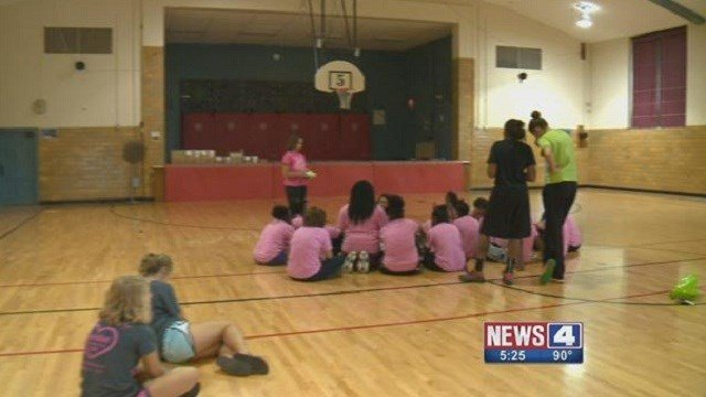 A camp at Ferguson Middle School helped prepare  incoming 7th grade girls for the new academic year.