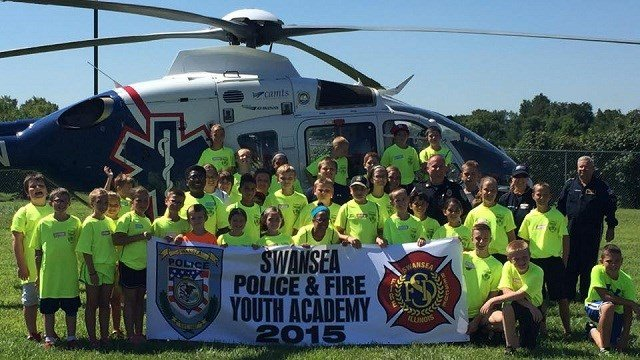 Police and firefighters in Swansea have banded together to help children in the area not only have fun, but learn valuable life lessons.