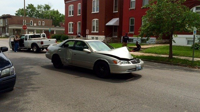 Accident scene Friday afternoon in South St. Louis