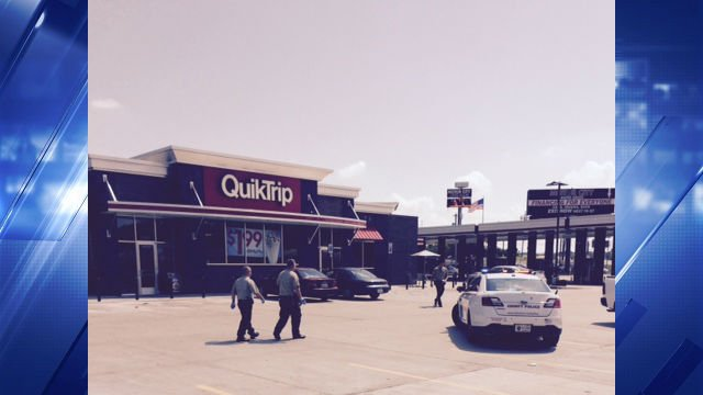 Police reponded to a shooting at the QuikTrip on Dunn Road and New Halls Ferry at 10:00 a.m.