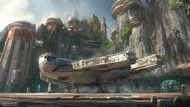 Walt Disney Company Chairman and CEO Bob Iger announced that Star Wars-themed lands will be coming to Disneyland Park in Anaheim, Calif., and Disney's Hollywood Studios in Orlando, Fla. (Credit: Disney Parks)
