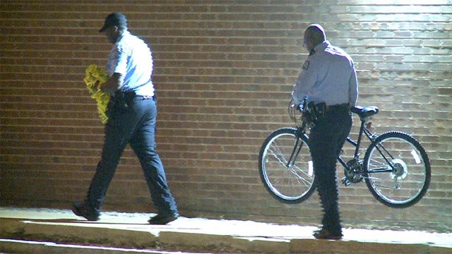 A man was shot while riding a bicycle near the intersection of Arkansas and Keokuk Sunday night