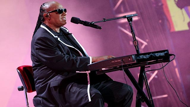 Stevie Wonder performs at the Opening Ceremony of the 2015 Special Olympics World Games at Los Angeles Memorial Coliseum on Saturday, July 25, 2015, in Los Angeles. (Photo by Rich Fury/Invision/AP)
